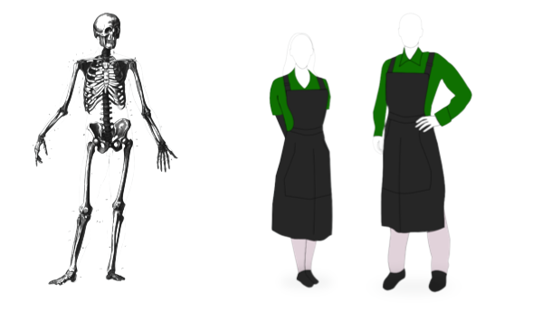 English Halloween idioms Skeleton Staff