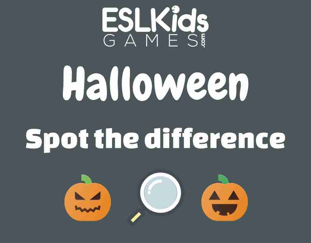 Halloween Spot the difference Game Interactive online Game