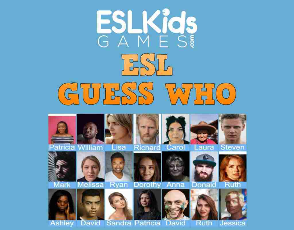ESL Guess Who interactive online game