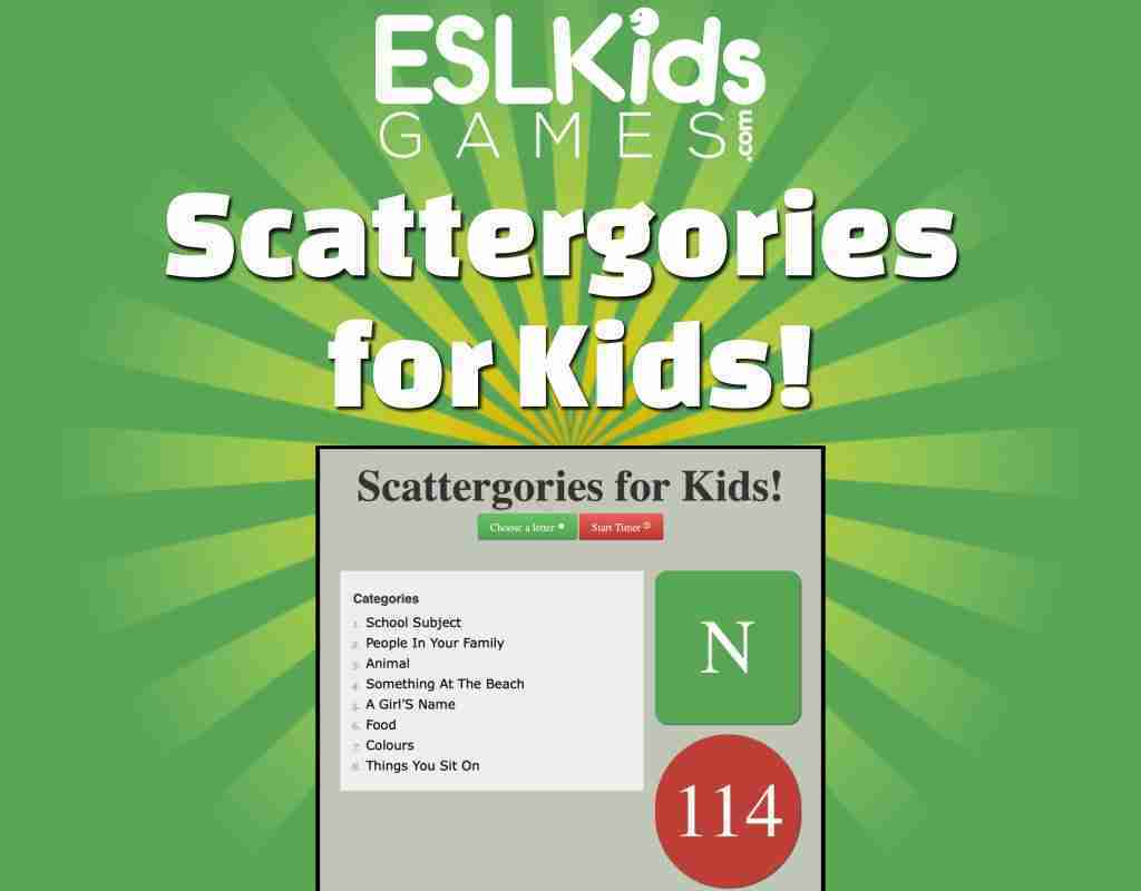 Scattagories for Kids!