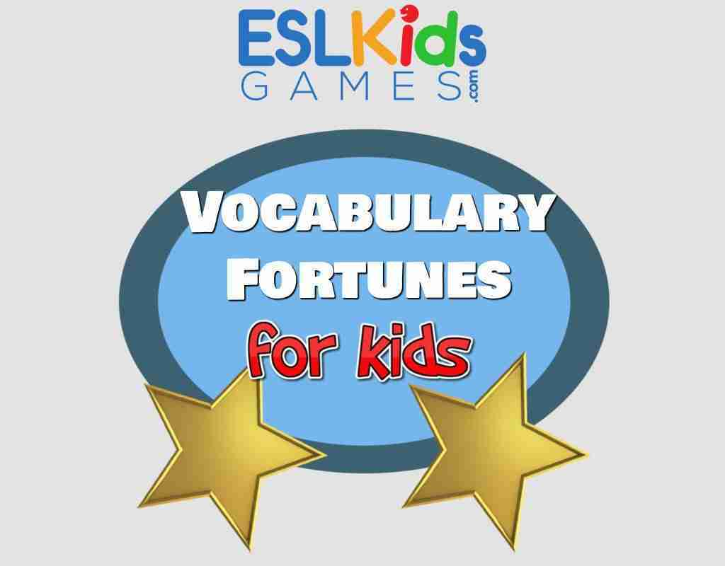 Vocabulary Fortunes for kids